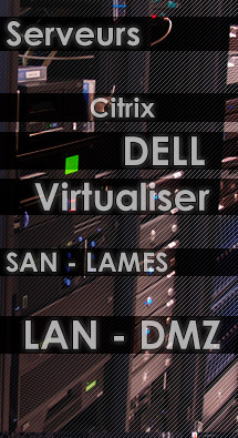Serveurs - Citrix - Dell - windows - SAN - LAMES - LAN - DMZ